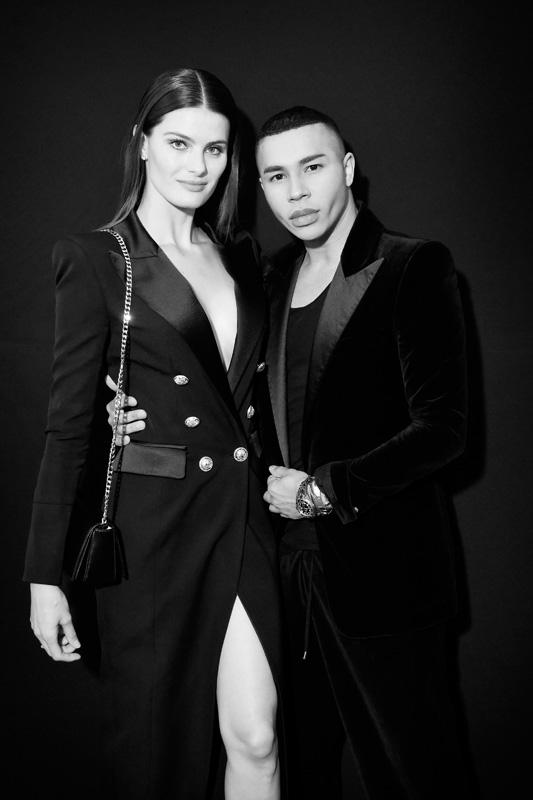 Isabeli Fontana et Olivier Rousteing