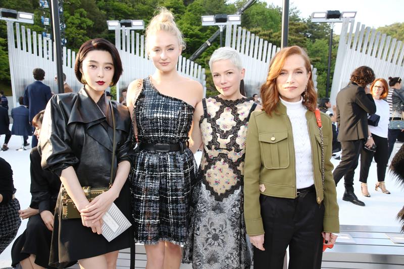 Fan Bing Bing, Sophie Turner, Michelle Williams et Isabelle Huppert