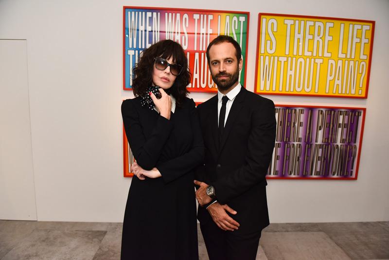 Isabelle Adjani et Benjamin Millepied