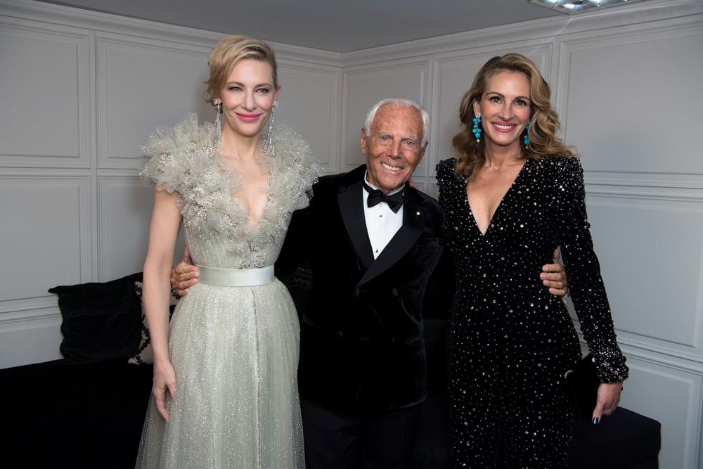 Cate Blanchett, Giorgio Armani et Julia Roberts