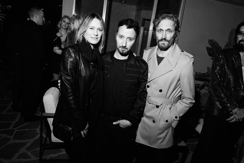 Robin Wright, Anthony Vaccarello et Vincent Gallo
