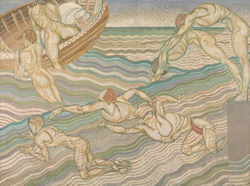 """Bathing"" Duncan Grant. Crédit : Tate Britain"
