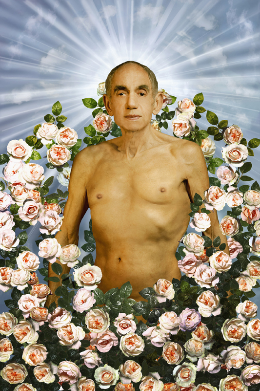 Hommage à Pierre et Gilles, La tentation d'Adam, 1996, série Looking for the Masters in Ricardo's golden shoes. © Catherine Balet, 2014. Courtesy galerie Thierry Bigaignon.