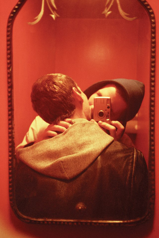 """Red Mirror"", 1999 Courtesy Ryan McGinley and team (gallery, inc.) © Ryan McGinley."