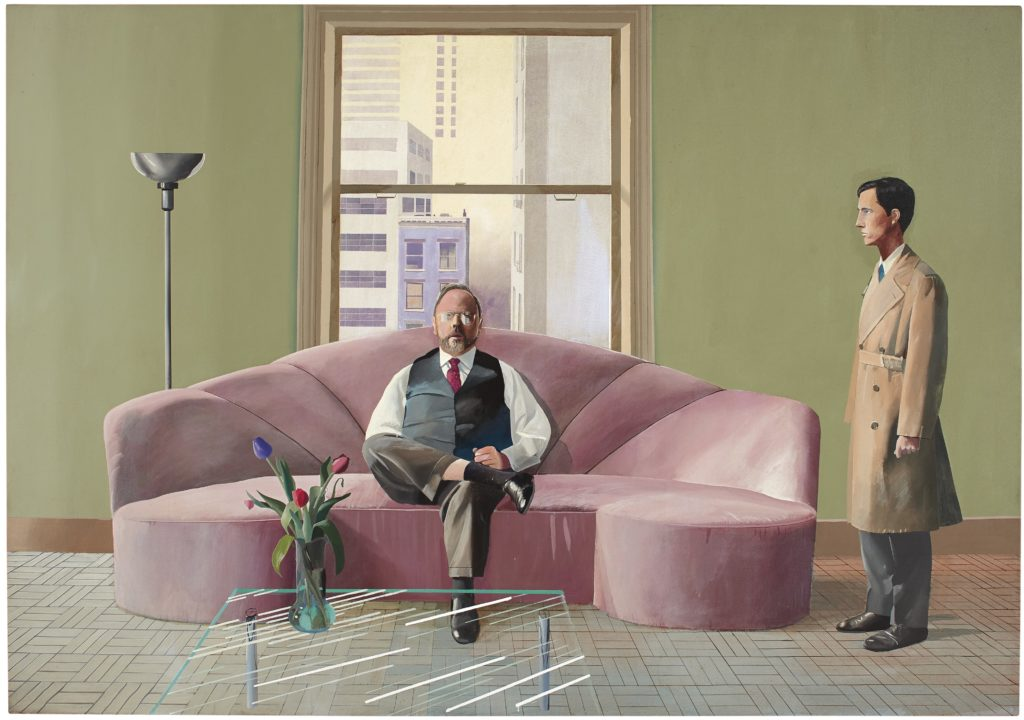 "David Hockney, ""Henry Geldzahler and Christopher Scott"" (1968–69). Photo: Christie's Ltd."