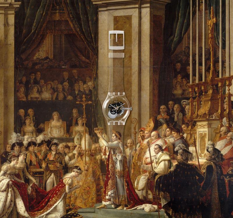 Sacre de l'empereur Napoléon Ier et couronnement de l'impératrice Joséphine dans la cathédrale Notre-Dame de Paris, le 2 décembre 1804, Jacques Louis David, Photo (C) RMN-Grand Palais (musée du Louvre) / Michel Urtado