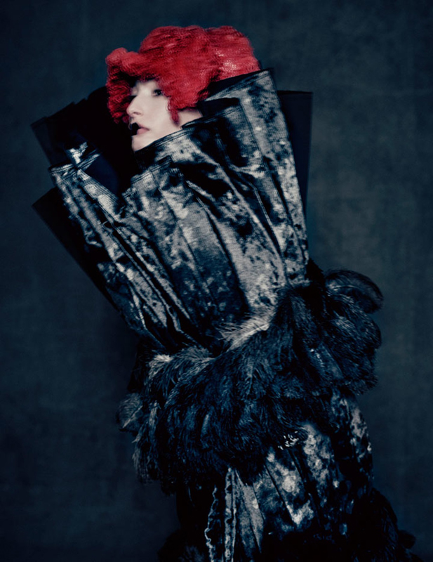 Rei Kawakubo (Japanese, born 1942) for Comme des Garçons (Japanese, founded 1969). Blue Witch, spring/summer 2016; Courtesy of Comme des Garçons. Photograph by © Paolo Roversi