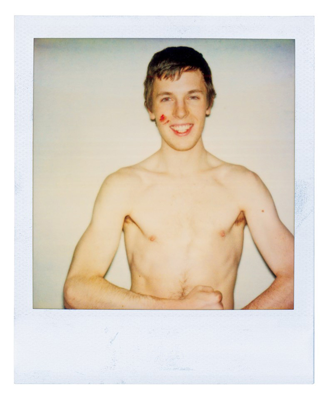 """Ryan, Polaroids"", (Dates Variable 1998-2003 Courtesy Ryan McGinley and team (gallery, inc.) © Ryan McGinley."