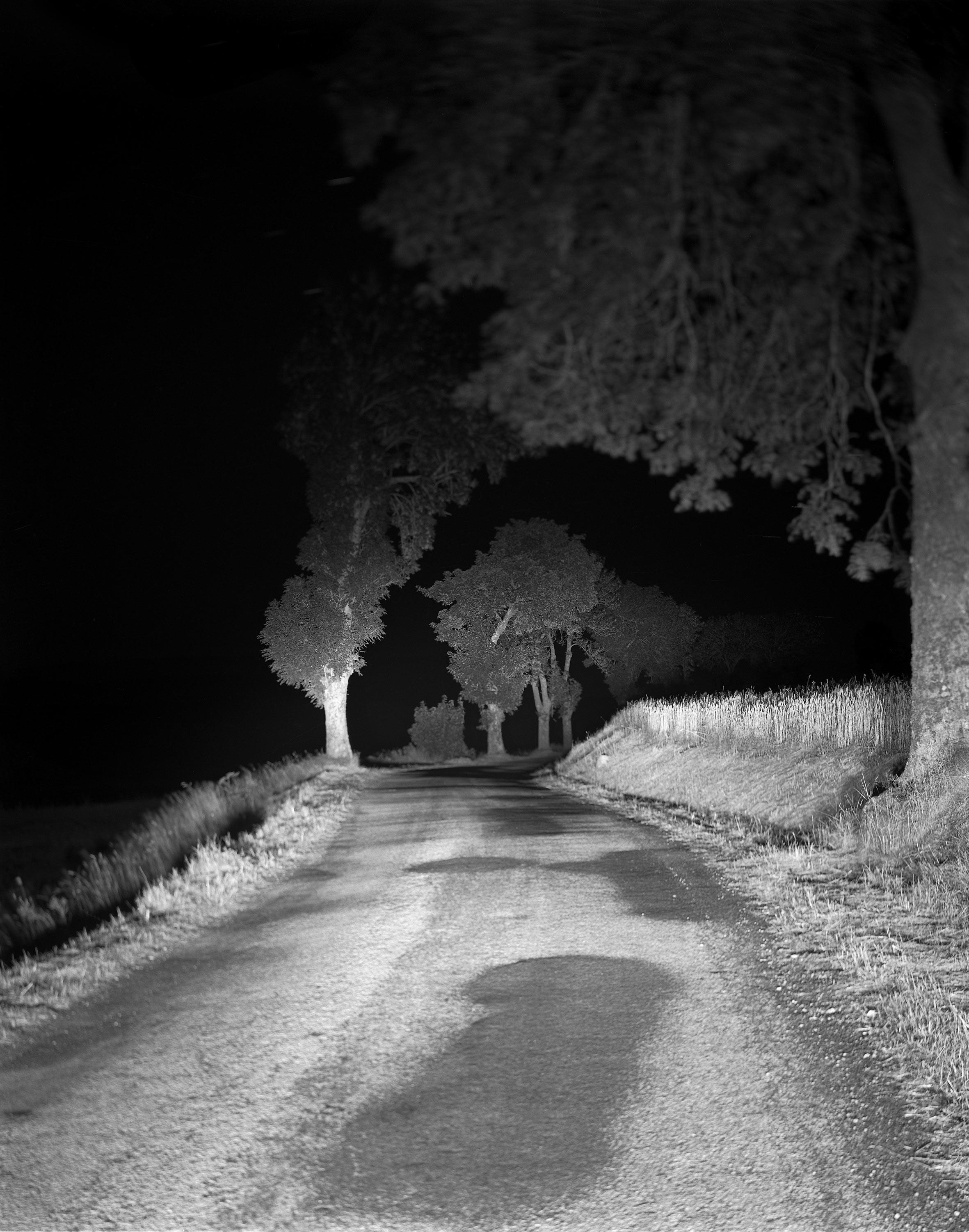 """""""Dans l'atelier de la Mission"""" se propose de revenir sur le tournant fondateur qu'a représenté la Mission photographique de la DATAR dans la carrière de ceux qui, aujourd'hui, comptent parmi les plus grands photographes contemporains. C'est au printemps 1983, à l'occasion de ses 20 ans, que la Délégation à l'aménagement du territoire et à l'action régionale (DATAR) lance une vaste commande artistique de photographies ayant pour objet de """"représenter le paysage français des années 1980"""". Ici : Alain Ceccaroli,  tirage issu de la série """"Paysages de la route, des Alpes aux Pyrénées"""", 1985, Mission photographique de la DATAR (1984-1988), collection du département des Estampes et de la Photographie de la BnF."""