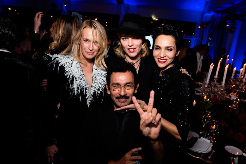 Estelle Lefébure, Eva Herzigova, Farida Khelfa et Haider Ackermann