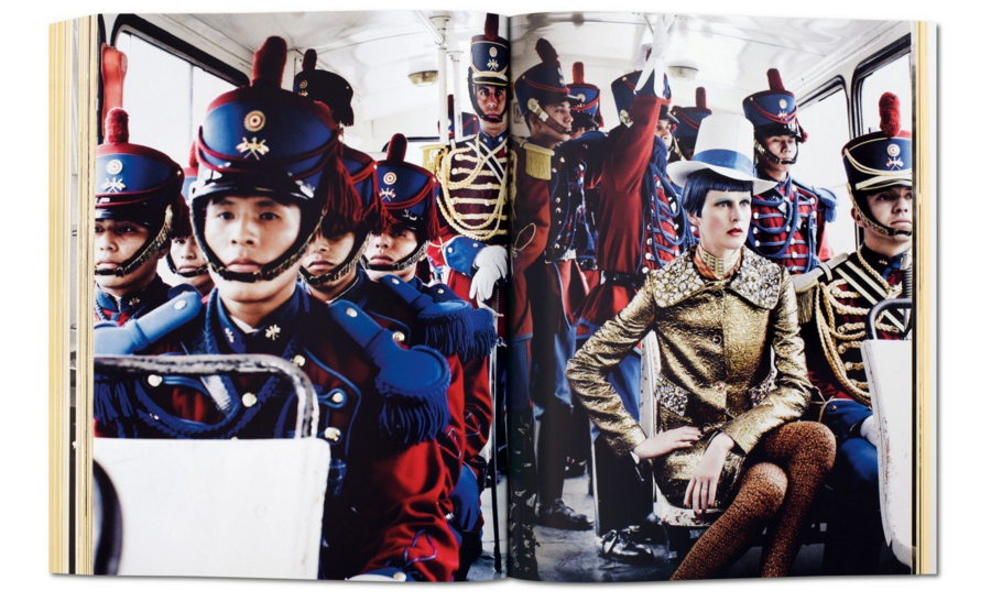 Stella Tennant & Peru's Presidential Guards, Lima, American Vogue, 2012