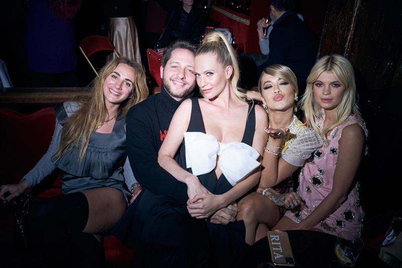 Alexia Niedzielsi, Derek Blasberg, Poppy Delevingne, Rita Ora et Pixie Geldof