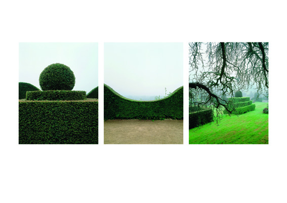 """Yann Monel """"La Fable du jardin"""" (détail) installation images - voix suite de 53 images argentiques de 31 jardins 48 x 38 cm chaque photographie © Yann Monel"""