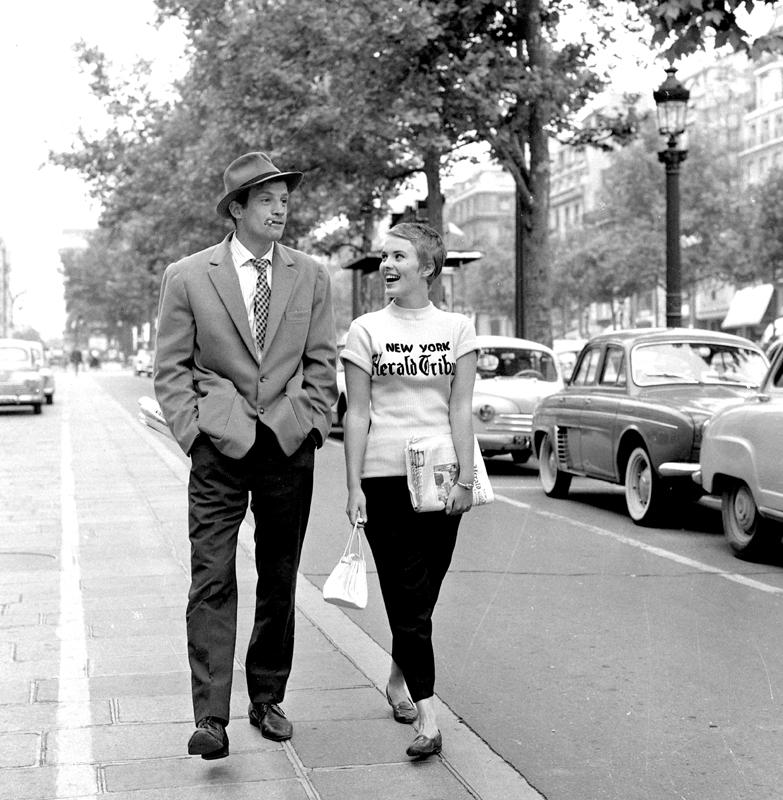 Jean-Paul Belmondo et Jean Seberg 1959 « À bout de souffle » de Jean-Luc Godard © Raymond Cauchetier