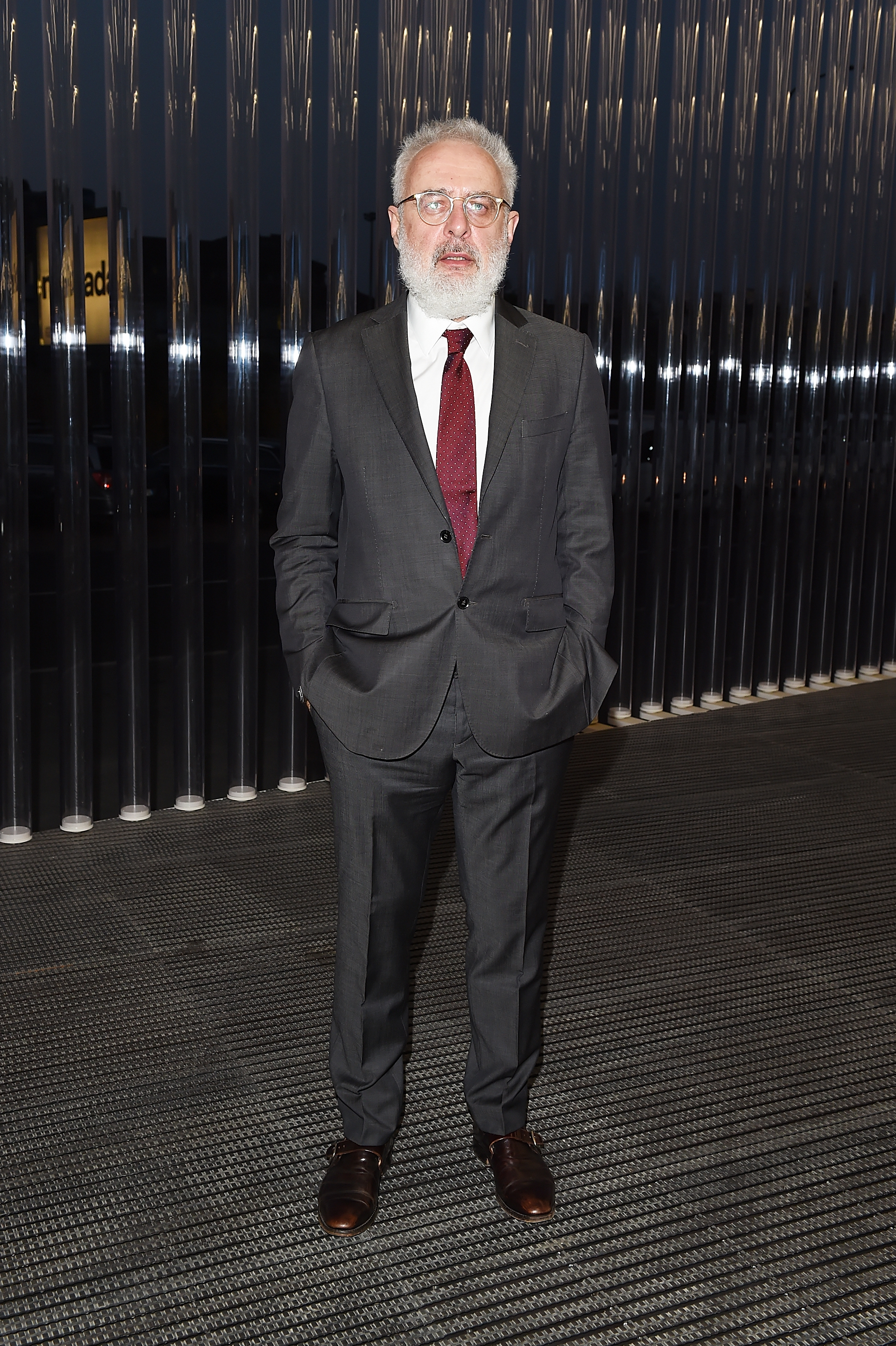 Francesco Bonami à l'inauguration de la Torre à la Fondazione Prada le 18 avril 2018 à Milan, Italie. (Photo by Stefania M. D'Alessandro/Getty Images for Fondazione Prada)
