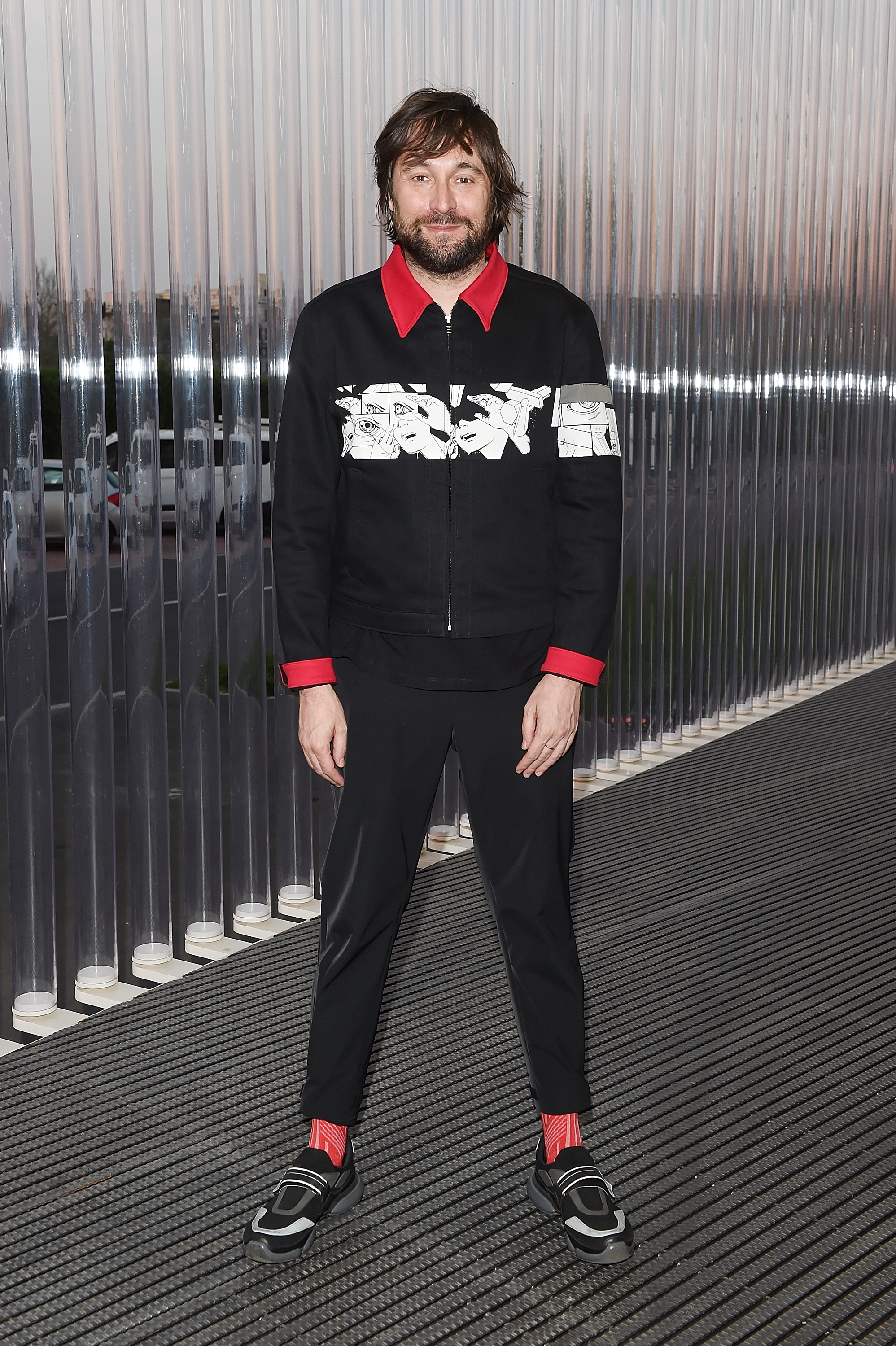 Francesco Vezzoli à l'inauguration de la Torre à la Fondazione Prada le 18 avril 2018 à Milan, Italie. (Photo by Stefania M. D'Alessandro/Getty Images for Fondazione Prada)