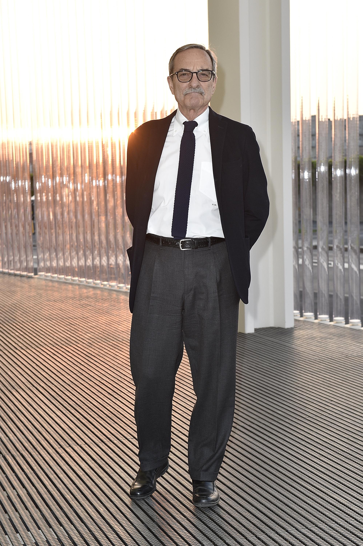 Giuseppe Mondani à l'inauguration de la Torre à la Fondazione Prada le 18 avril 2018 à Milan, Italie. (Photo by Pietro D'Aprano/Getty Images for Fondazione Prada)