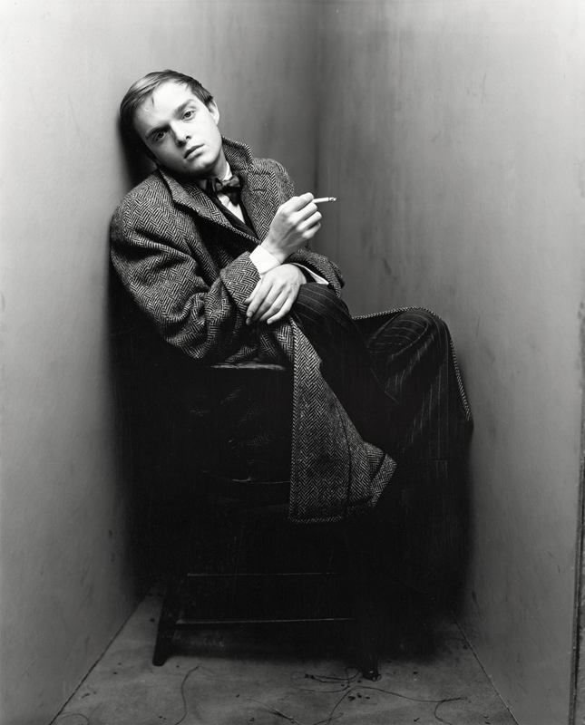"Irving Penn, ""Truman Capote"", New York, 1948  Foundation Gift, through Joyce and Robert Menschel, 1986 © The Irving Penn Foundation"