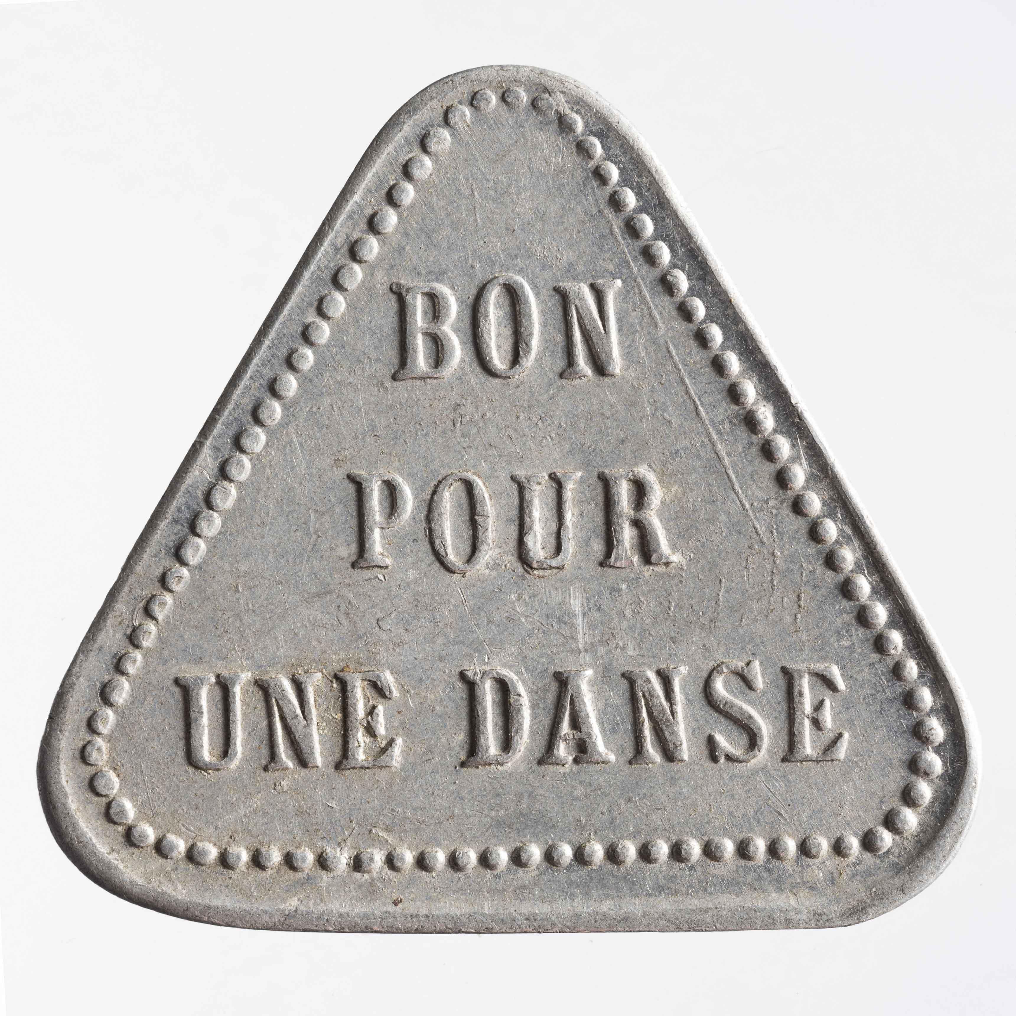 Jeton métallique de l'Élysée Clichy© Julien Vidal / Musée Carnavalet / Roger-Viollet