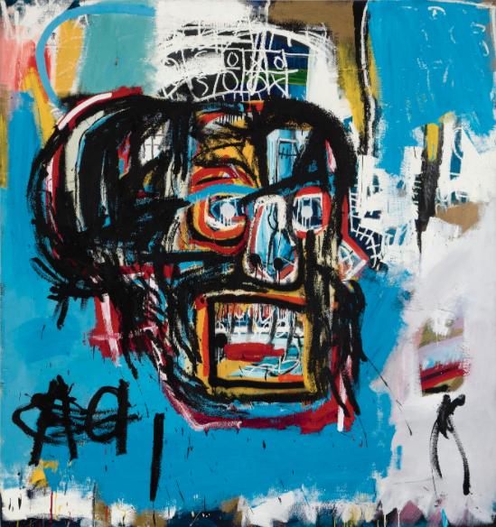 """9) """"Sans titre"""" (1982) de Jean-Michel Basquiat, vendu pour 110,5 millions de dollars chez Sotheby's à New York en mai 2017."""