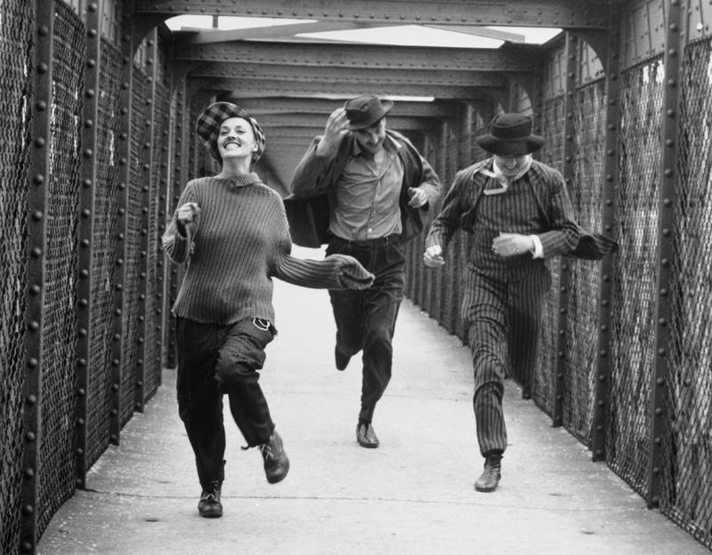 Jeanne Moreau, Henri Serre et Oscar Werner 1961 « Jules et Jim » de François Truffaut © Raymond Cauchetier
