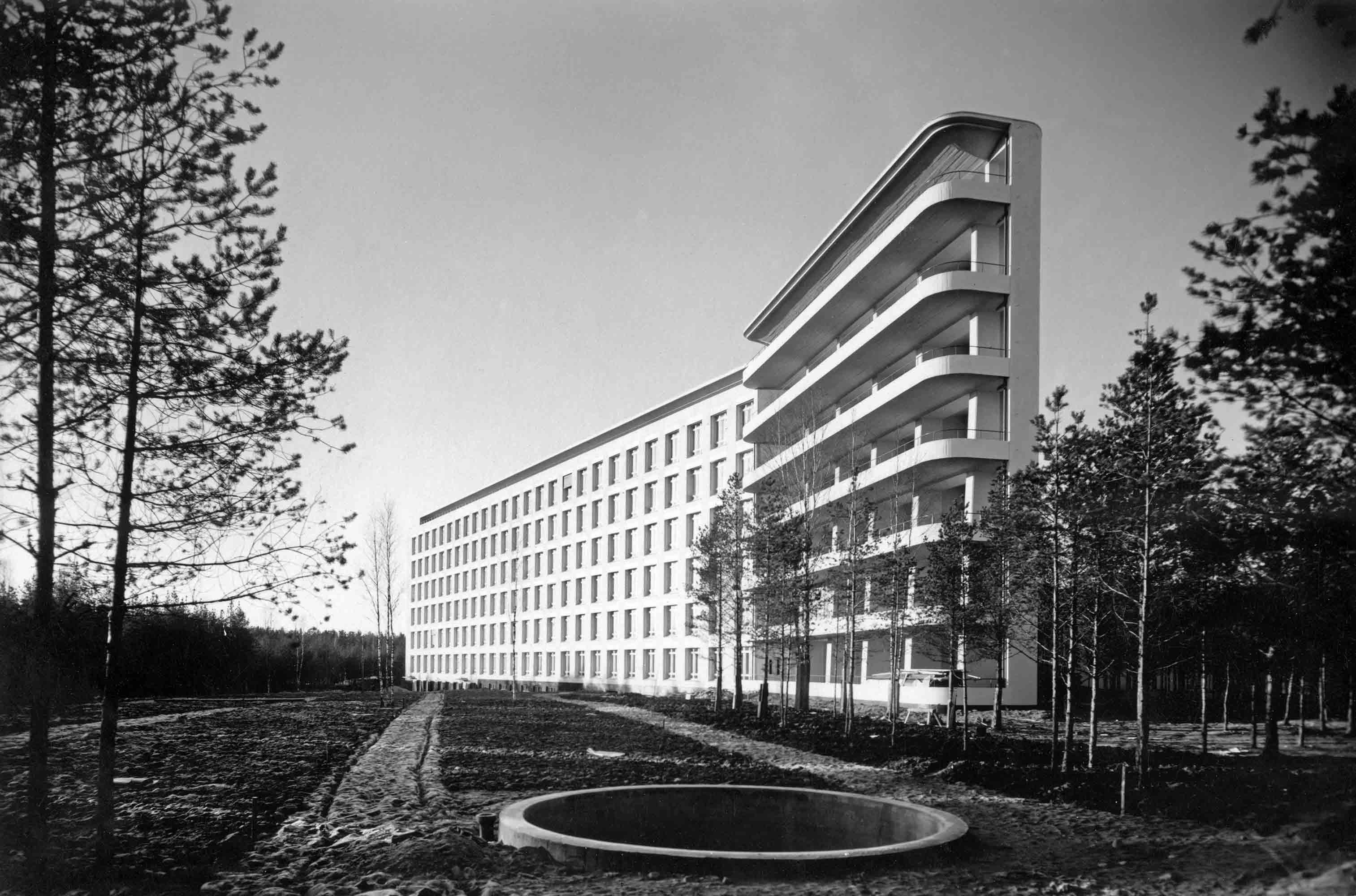 Sanatorium pour tuberculeux ©Alvar Aalto Museum, photo Gustaf Welin