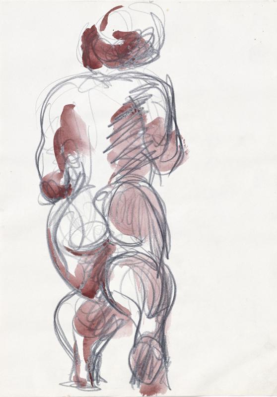 Markus Lüpertz Sans Titre (2000). Galerie Michael Werner, Märkisch Wilmersdorf, Cologne et New York. Crédit ADAGP, Paris 2017.