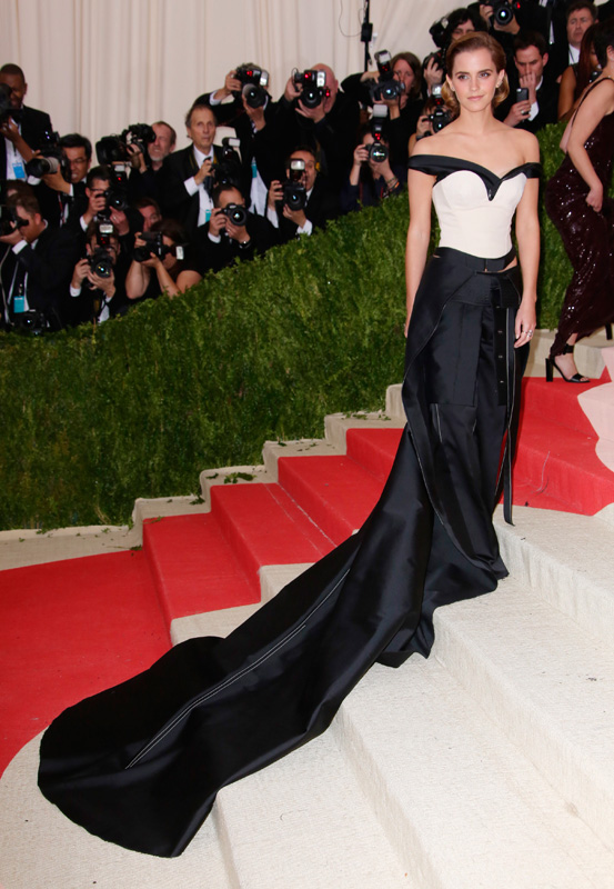 Calvin Klein Green Carpet Challenge dress worn by Emma Watson to the MET Gala 2016