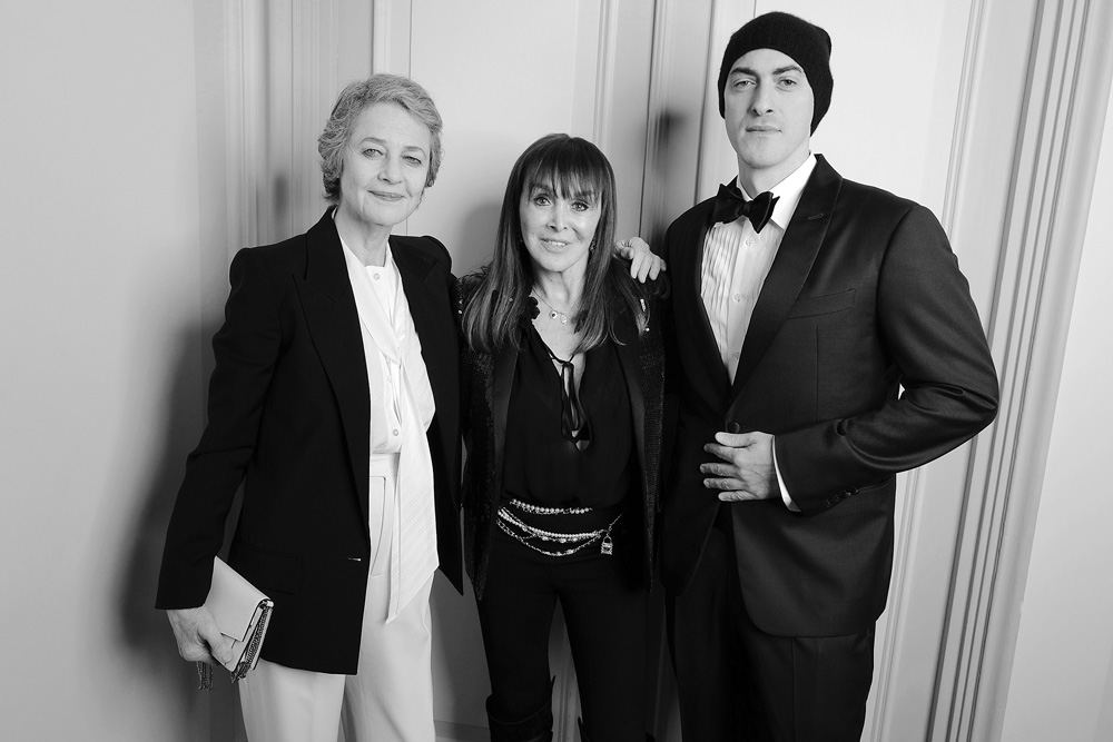 Charlotte Rampling, Babeth Djian et Gabriele Moratti