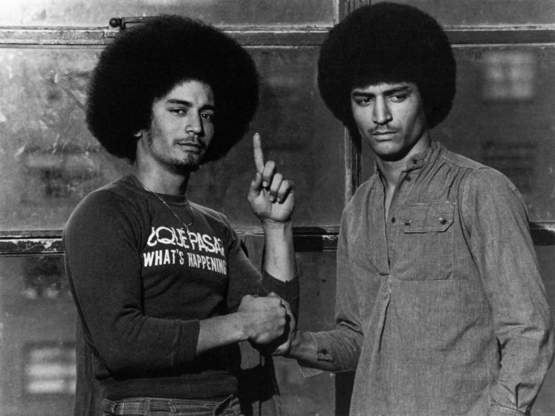 Les Roman Kings : Baba et son frère Louis. Ils sont jumeaux, 1976, South Bronx © Martine Barrat