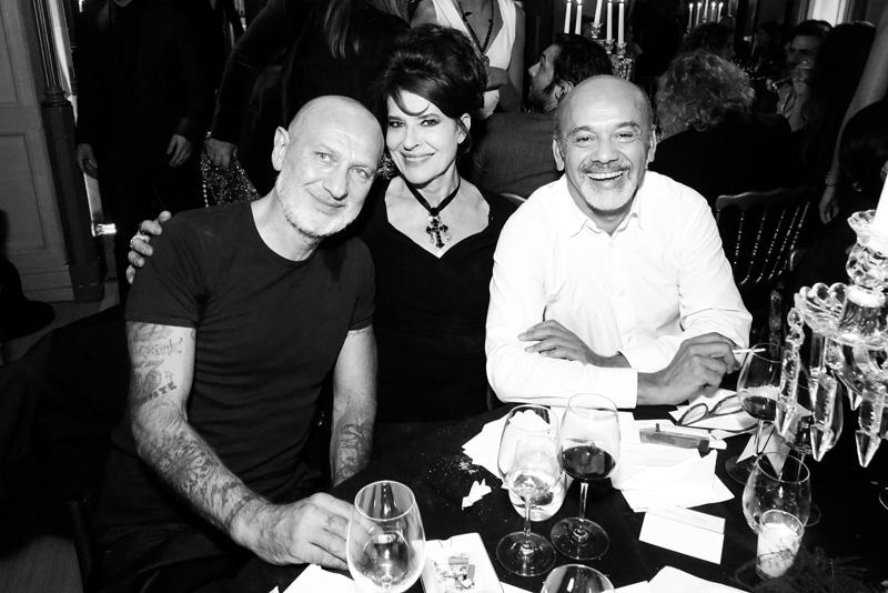 Gilles Blanchard, Fanny Ardant et Christian Louboutin
