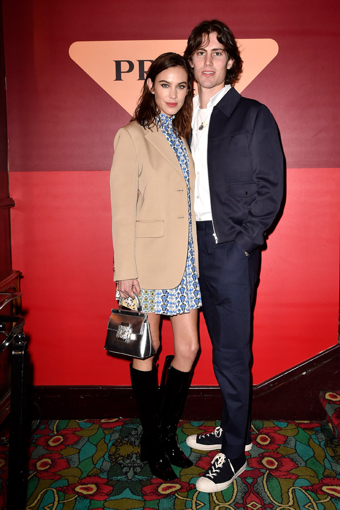 Alexa Chung and Orson Fry © Jacopo Raule/Getty Images for Prada