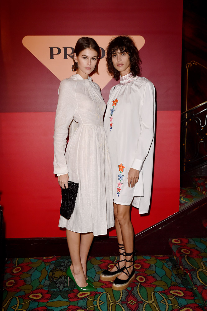 Kaia Gerber and Mica Arganaraz © Jacopo Raule/Getty Images for Prada