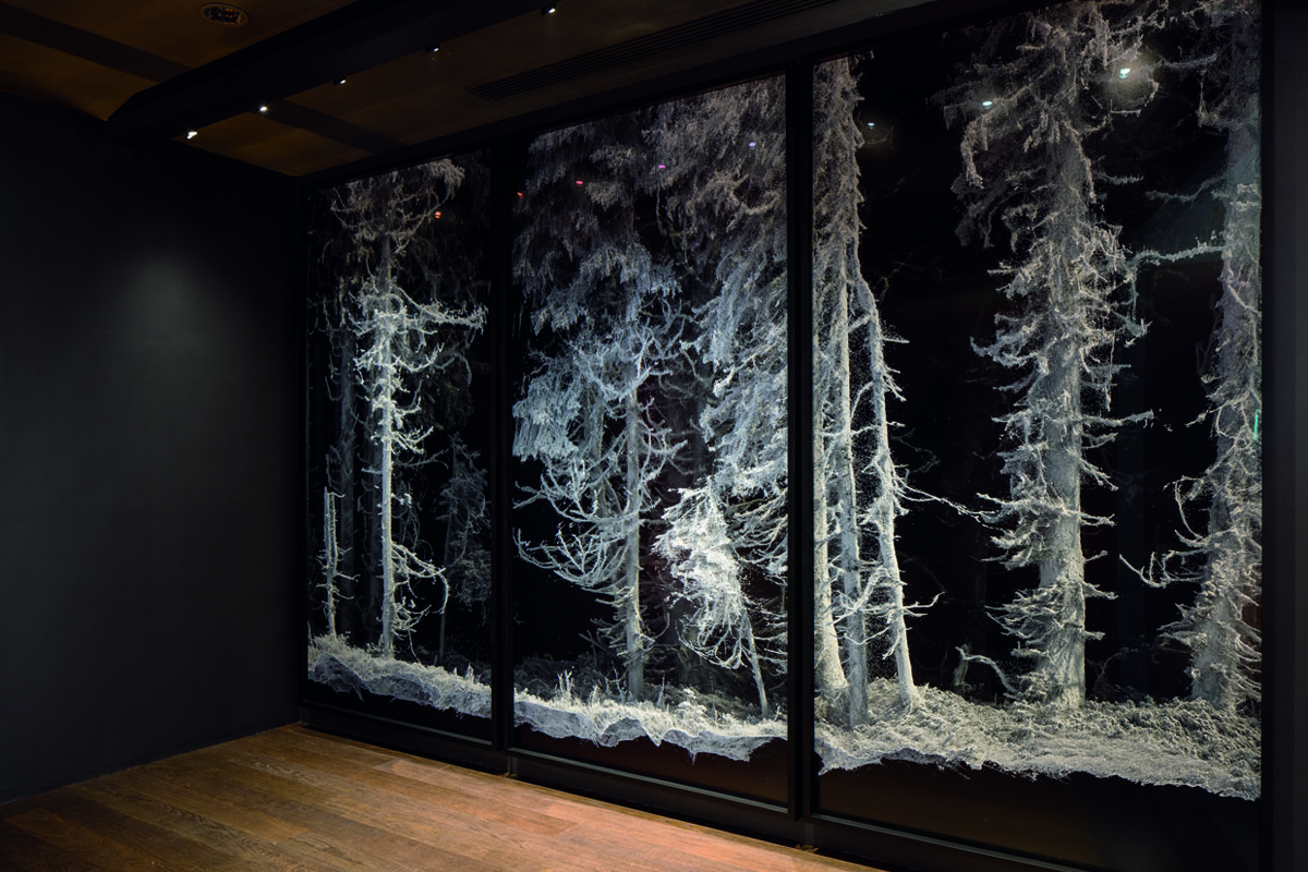 """Remains: Vallée de Joux"", Quayola, vue du stand Audemars Piguet - Art Basel, Courtesy of Audemars Piguet"