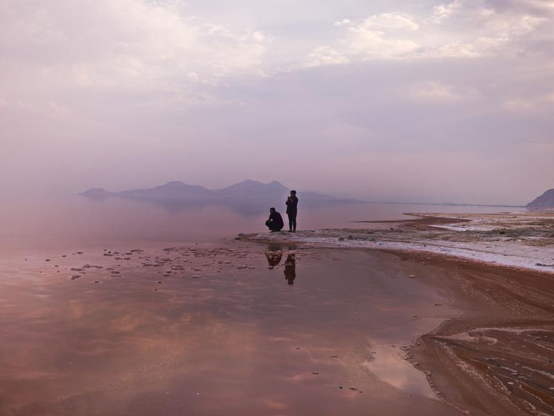Newsha Tavakolian, Lake Urmia, colored red by salt-loving bacteria and algae. Iran. 2016. © Newsha Tavakolian / Magnum Photos