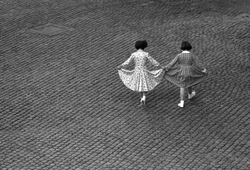 Herbert List, View From a Window: Dance of the Dresses. Trastevere, Rome.1953. © Herbert List / Magnum Photos
