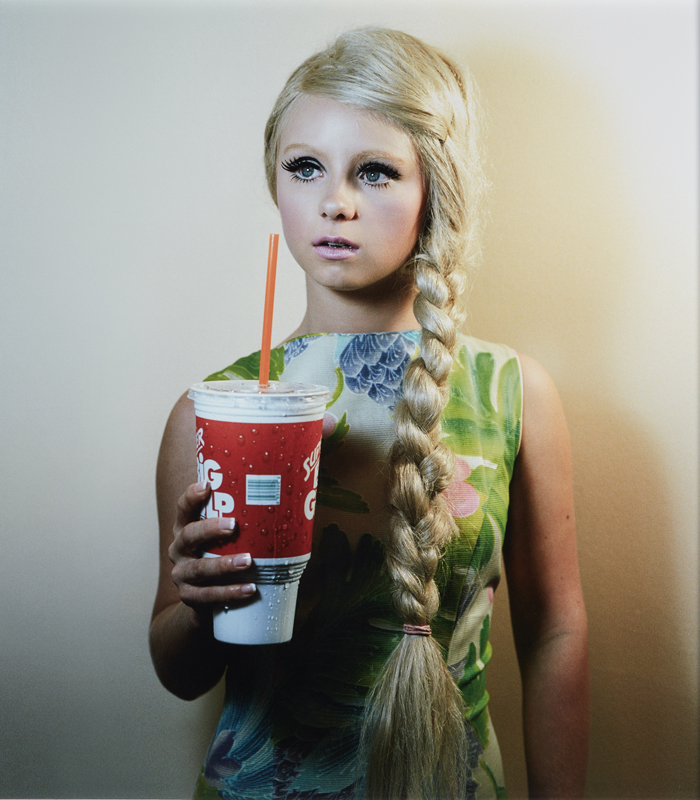 "Alex Prager, ""Ellen from Polyester"" 2007 Chromogenic print. 47 x 43 in. (119.4 x 109.2 cm)"