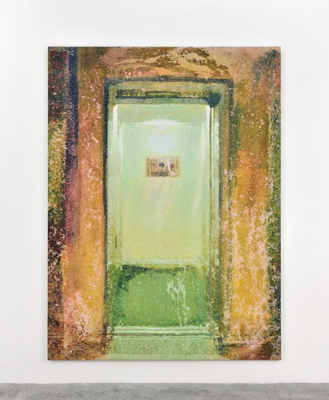 """Alexandre Lenoir, """"Porte""""(2018). Acrylic and oil on canvas, 259x193cm"""