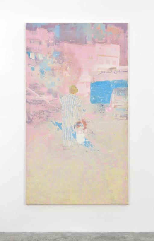 """Alexandre Lenoir,"""" Casablanca""""(2018). Acrylic and oil on canvas, 228x128cm"""