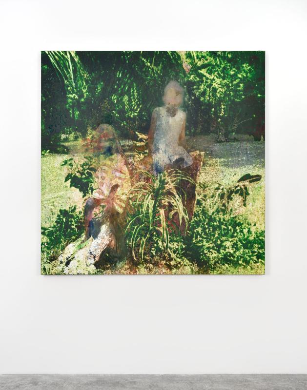 """Alexandre Lenoir, """"Tanto""""(2019). Acrylic and oil on canvas, 157x157cm"""