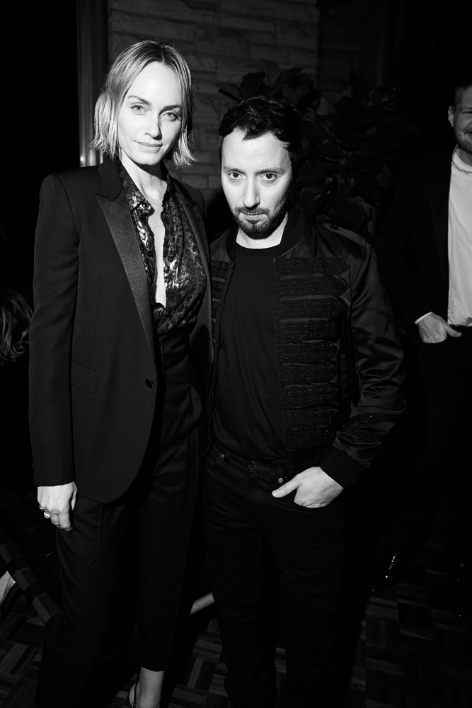 Amber Valletta et Anthony Vaccarello
