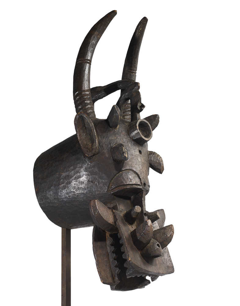 Masque cracheur de feu Senoufo, Mali © Artcurial.