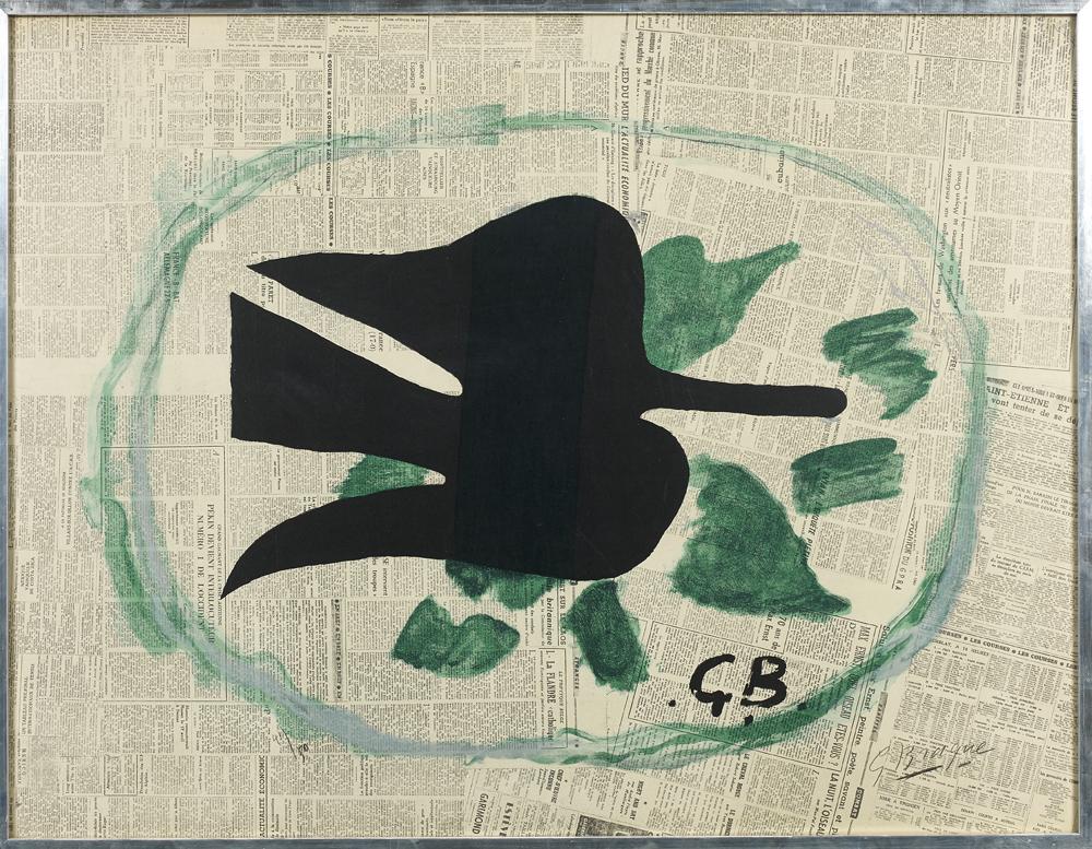 George Braque, Oiseaux dans le feuillage, Lithographie en couleurs, 1961 © Artcurial.