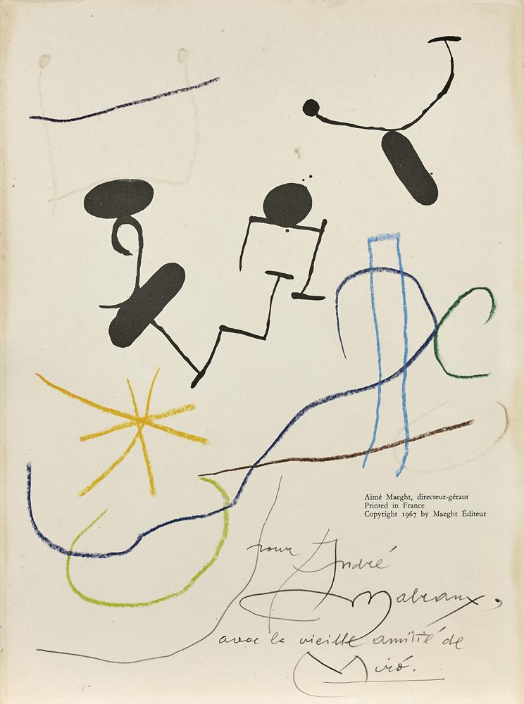 Joan Miró, Sans titre, Pastel et feutre sur papier, 1967 © Artcurial.
