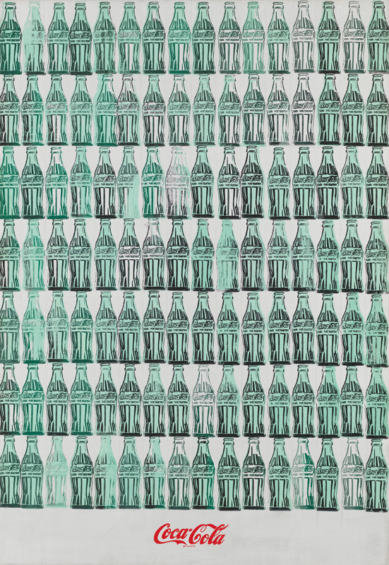 Andy Warhol (1928 – 1987) Green Coca-Cola Bottles 1962 Whitney Museum of American Art, New York; purchase with funds from the Friends of the Whitney Museum of American Art 68.25. © 2019 The Andy Warhol Foundation for the Visual Arts, Inc. / Licensed by Artists Rights Society (ARS), New York