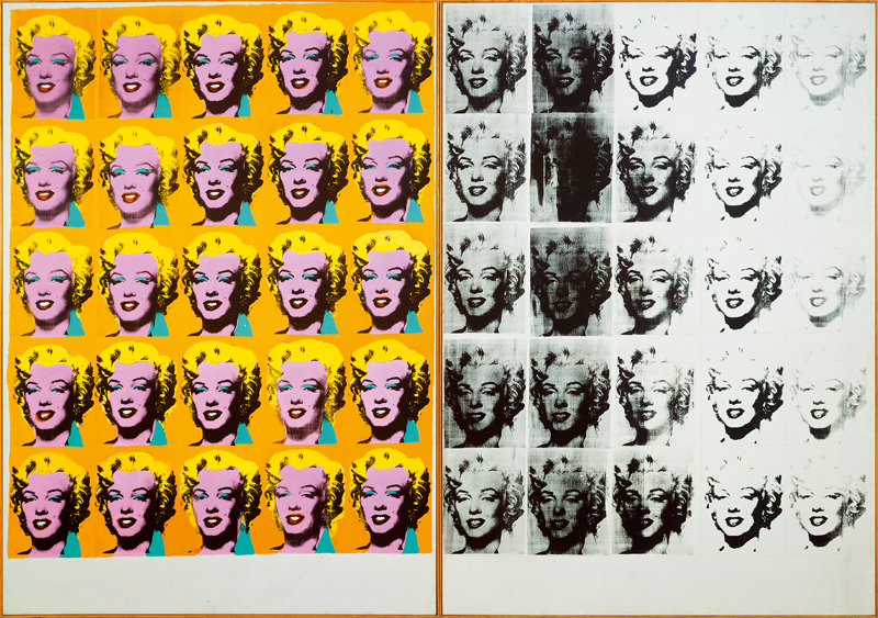 Andy Warhol (1928 – 1987) Marilyn Diptych 1962 Tate © 2019 The Andy Warhol Foundation for the Visual Arts, Inc / Artists Right Society (ARS), New York and DACS, London