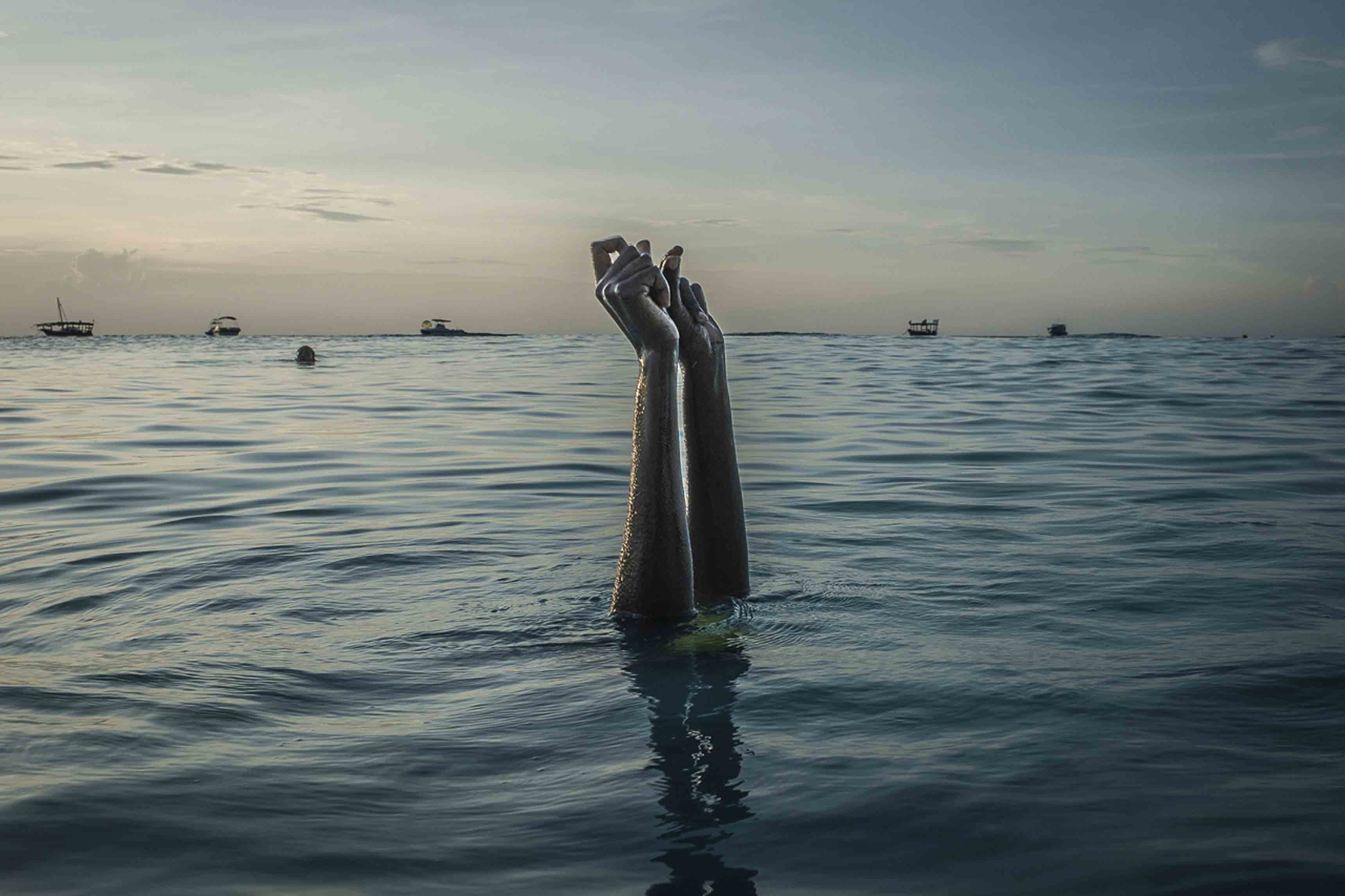 """Anna Boyiazis, """"Finding Freedom in the Water"""", 2016"""