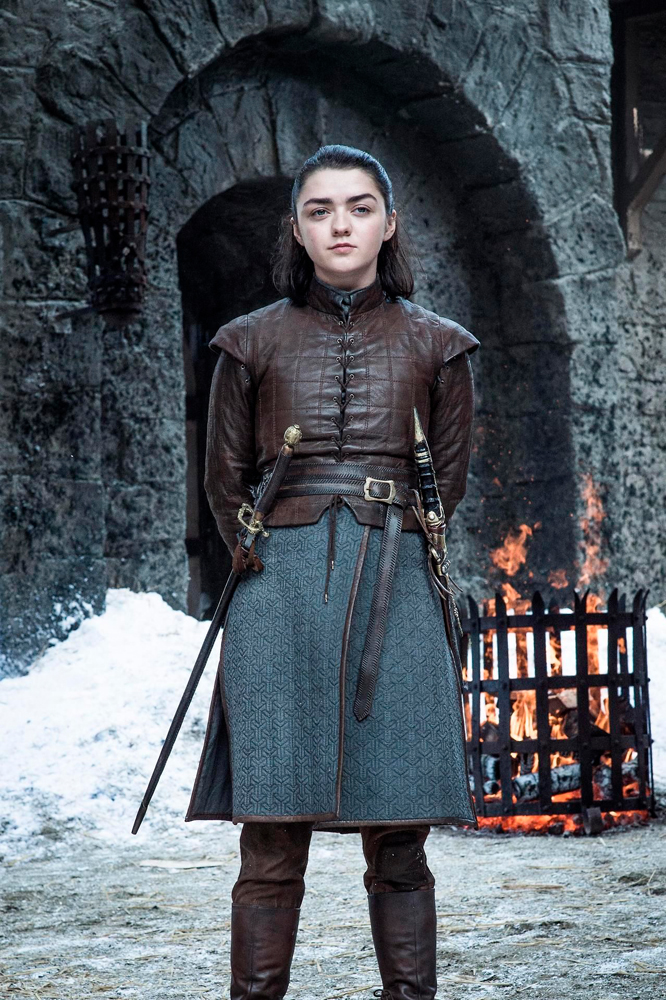 Aria Stark in Game of Thrones.