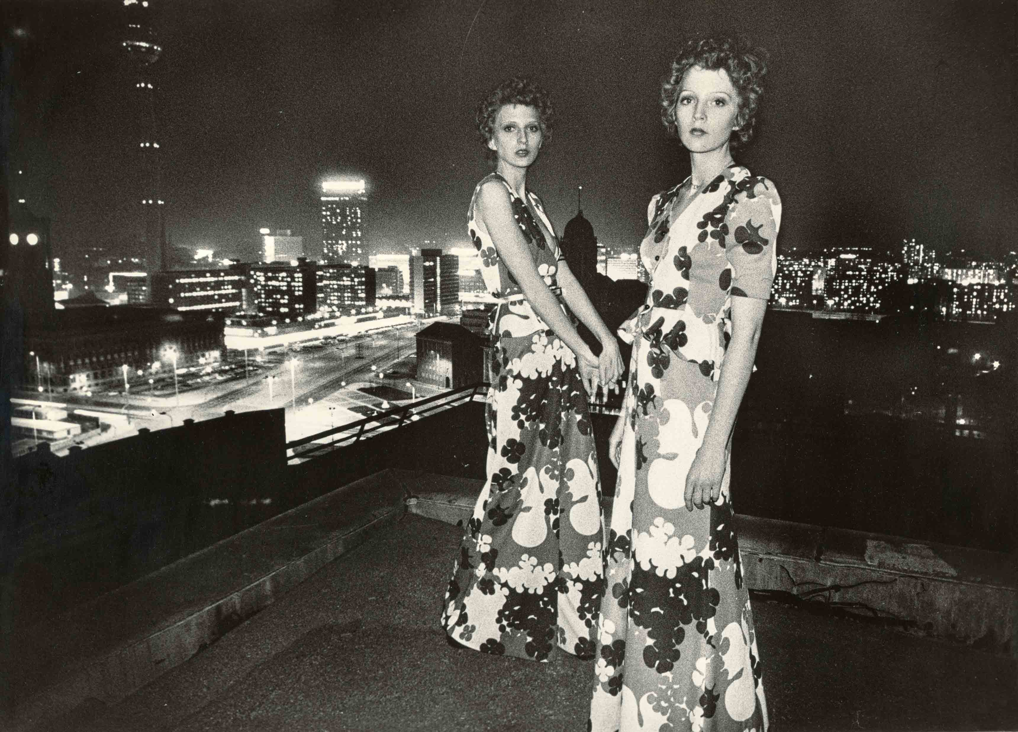 Evening dresses | vintage print | 11,4 x 15,4 in | models: Fashion Institute of the GDR | 'Sibylle', issue 4, 1974 Galerie Berinson, Berlin