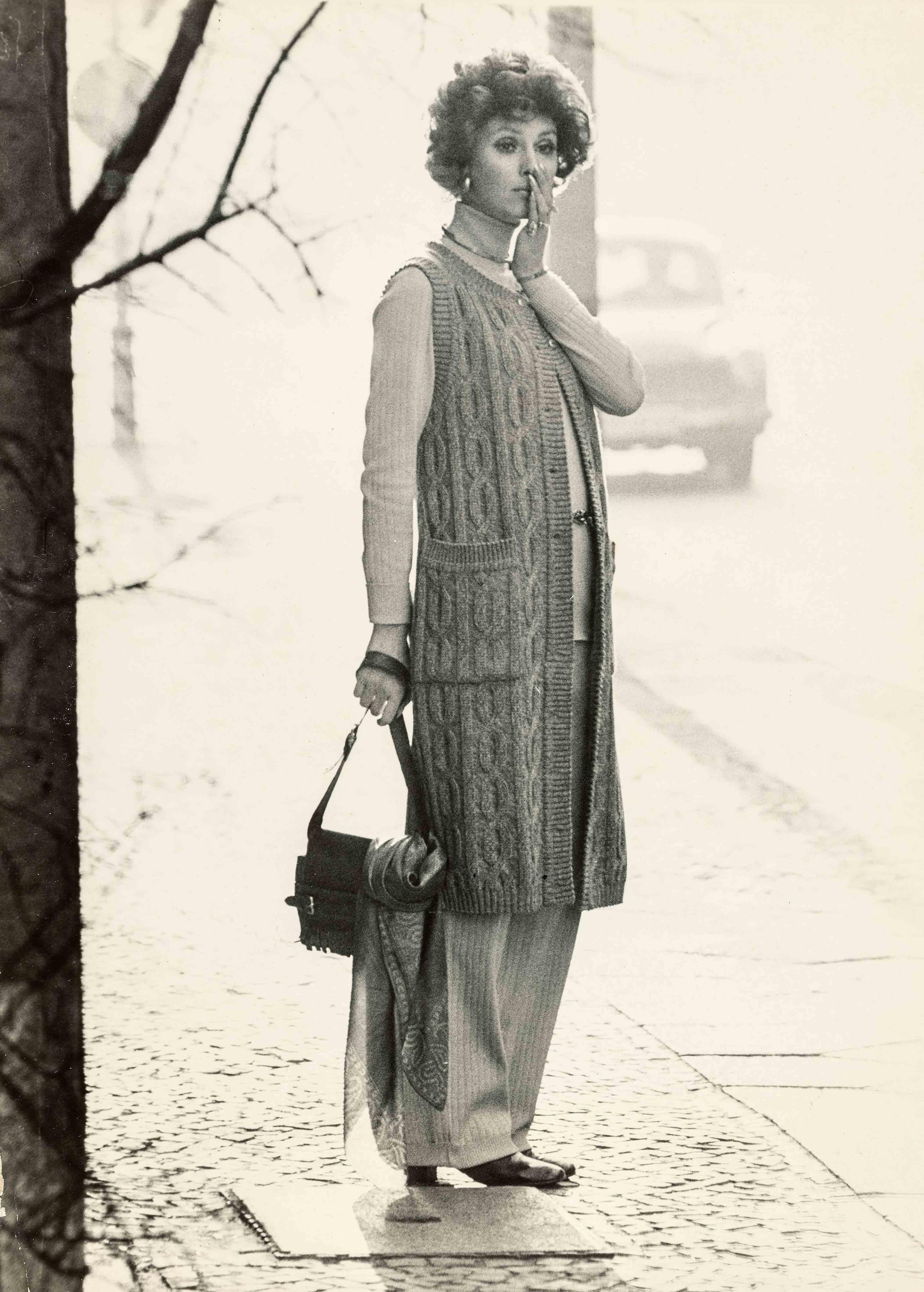 Knitwear fashion | vintage print | 15,6 x 11,7 in | model: German Fashion Institute | 'Sibylle', issue 4, 1971 Galerie Berinson, Berlin
